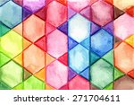 vector watercolor hand drawn ... | Shutterstock .eps vector #271704611