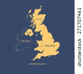 united kingdom map  uk map | Shutterstock .eps vector #271707461