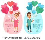 happy mother's day greetings... | Shutterstock .eps vector #271720799