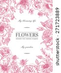Floral Vector Background With...