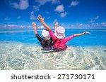 adorable little girls playing... | Shutterstock . vector #271730171
