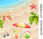 summer  illustration with... | Shutterstock .eps vector #271738385
