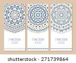 set of ethnic banners. stylish... | Shutterstock .eps vector #271739864