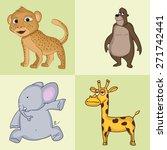 funny cartoon characters of... | Shutterstock .eps vector #271742441