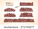 vector coffee beans background... | Shutterstock .eps vector #271743077