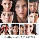 assorted facial expressions... | Shutterstock . vector #271743269