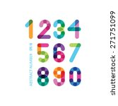 bright numbers | Shutterstock .eps vector #271751099
