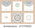set of six cards with ethnic...   Shutterstock .eps vector #271753025