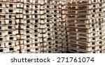 pile of new pallets sorted and... | Shutterstock . vector #271761074