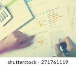 market analyze   pen and... | Shutterstock . vector #271761119