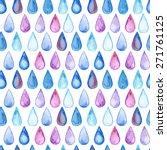 vector seamless watercolor... | Shutterstock .eps vector #271761125