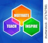 teach  inspire  motivate  ... | Shutterstock .eps vector #271767581