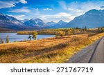 autumn view of going to the sun ... | Shutterstock . vector #271767719