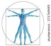 vitruvian human or man as a... | Shutterstock . vector #271769495