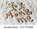 words written in flour closeup | Shutterstock . vector #271770389