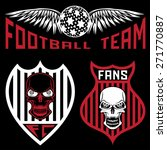 football team crests set with... | Shutterstock .eps vector #271770887
