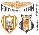 football team crests set with... | Shutterstock .eps vector #271770929