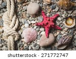 marine background with ropes... | Shutterstock . vector #271772747