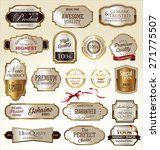 premium quality golden labels  | Shutterstock .eps vector #271775507