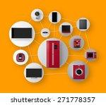 smart appliances in network....   Shutterstock . vector #271778357