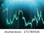 stock trading chart on monitor... | Shutterstock . vector #271784534