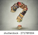 Question Mark Made Of Books Ask ...