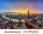 bangkok transportation at dusk... | Shutterstock . vector #271791551