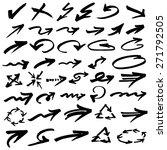 vector illustration of arrows | Shutterstock .eps vector #271792505