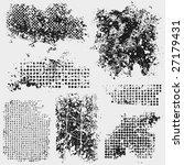 seven messy grunge textures for ... | Shutterstock .eps vector #27179431