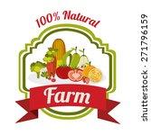 organic food design over white... | Shutterstock .eps vector #271796159