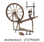 an antique wooden spinning... | Shutterstock . vector #271796645