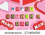 happy mother's day words and... | Shutterstock . vector #271806581