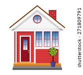 the little red house | Shutterstock .eps vector #271809791