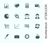 business economic financial...   Shutterstock .eps vector #271811234