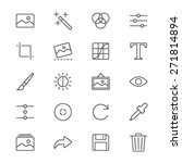 photography thin icons | Shutterstock .eps vector #271814894