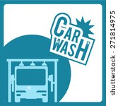 car wash over green  blue and... | Shutterstock .eps vector #271814975