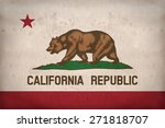 california flag on fabric... | Shutterstock . vector #271818707