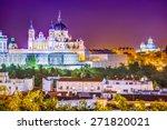 madrid  spain skyline at santa... | Shutterstock . vector #271820021