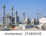 gas turbine power plant with...   Shutterstock . vector #271820135