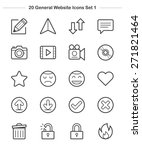 general icons set 1  line icon  ... | Shutterstock .eps vector #271821464