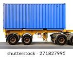 Container At The Dock With...