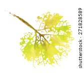 watercolor natural leaf made in ... | Shutterstock .eps vector #271828589