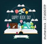 happy book day. imagination... | Shutterstock .eps vector #271830359