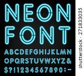 neon light alphabet vector font.... | Shutterstock .eps vector #271833035
