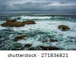 Waves And Rocks In The Pacific...