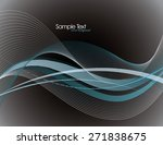 vector modern wavy background. | Shutterstock .eps vector #271838675