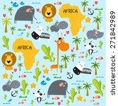 """vector background """"africa""""   Shutterstock .eps vector #271842989"""