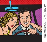 Man And Woman In The Car Famil...