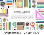 school supplies on white... | Shutterstock . vector #271844279