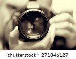 photographer with camera in... | Shutterstock . vector #271846127